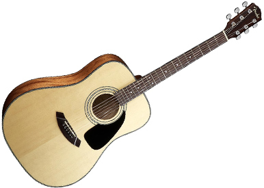 Steel stringed acoustic guitar
