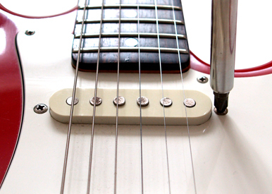 Guitar pickup adjustment